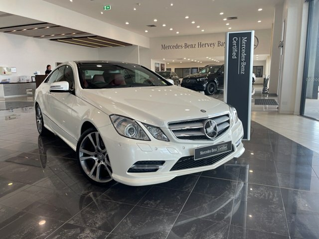 Used Mercedes-Benz E-Class C207 MY12 E350 BlueEFFICIENCY 7G-Tronic + Elegance Hervey Bay, 2013 Mercedes-Benz E-Class C207 MY12 E350 BlueEFFICIENCY 7G-Tronic + Elegance White 7 Speed