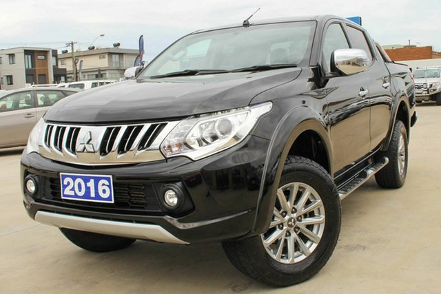 Used Mitsubishi Triton MQ MY16 GLS Double Cab Coburg North, 2016 Mitsubishi Triton MQ MY16 GLS Double Cab Black 6 Speed Manual Utility