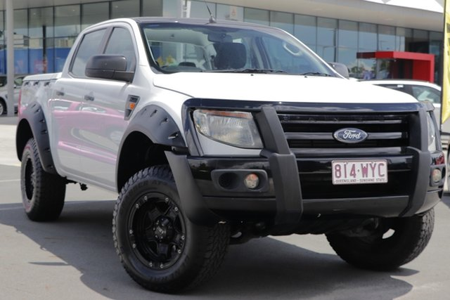 Used Ford Ranger PX XL Aspley, 2013 Ford Ranger PX XL White 6 Speed Sports Automatic Utility