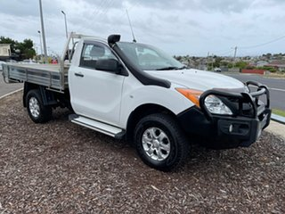 2014 Mazda BT-50 UP0YF1 XT White 6 Speed Sports Automatic Cab Chassis.