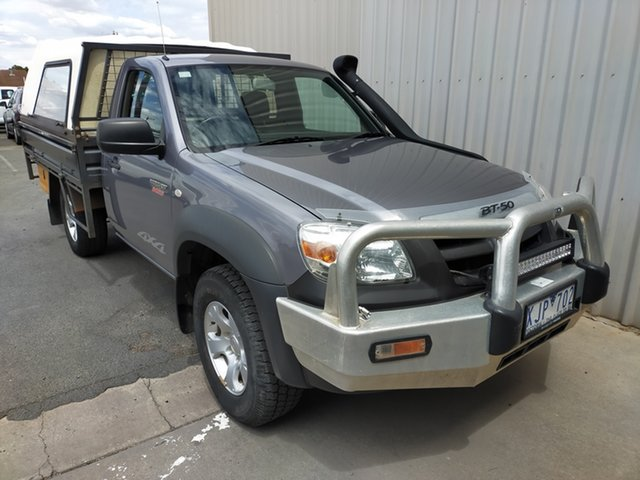 Used Mazda BT-50 UNY0E4 DX Horsham, 2009 Mazda BT-50 UNY0E4 DX 5 Speed Manual Cab Chassis