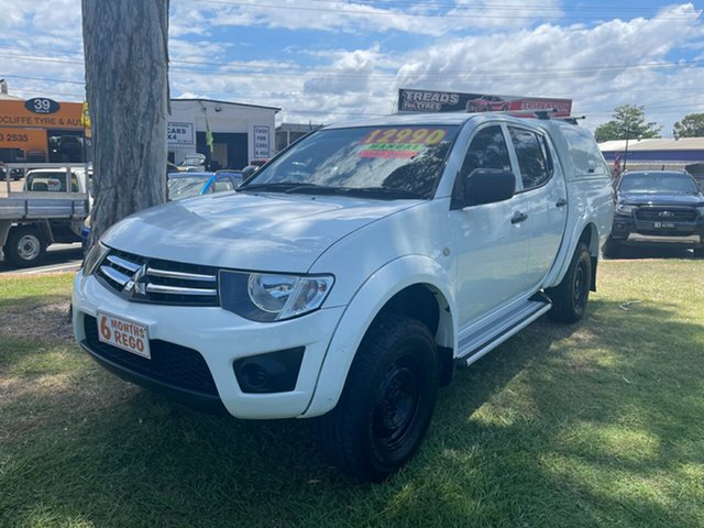 Used Mitsubishi Triton MN MY13 GLX Double Cab 4x2 Clontarf, 2013 Mitsubishi Triton MN MY13 GLX Double Cab 4x2 White 5 Speed Manual Utility
