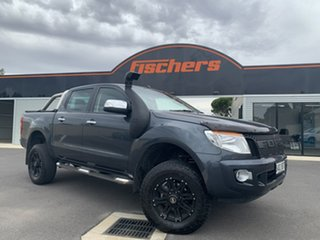 2014 Ford Ranger PX XLT 3.2 (4x4) Grey 6 Speed Automatic Dual Cab Utility.