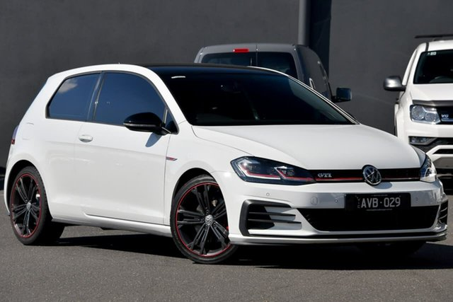 Used Volkswagen Golf 7.5 MY18 GTI DSG Original Moorabbin, 2018 Volkswagen Golf 7.5 MY18 GTI DSG Original White 6 Speed Sports Automatic Dual Clutch Hatchback