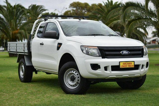 Used Ford Ranger PX XL Hi-Rider Enfield, 2015 Ford Ranger PX XL Hi-Rider White 6 Speed Sports Automatic Cab Chassis