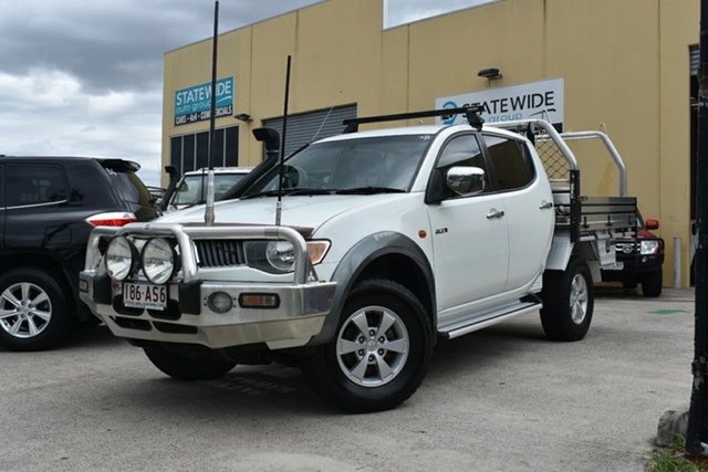 Used Mitsubishi Triton ML MY08 GLX-R (4x4) Capalaba, 2007 Mitsubishi Triton ML MY08 GLX-R (4x4) White 5 Speed Manual 4x4 Double Cab Utility