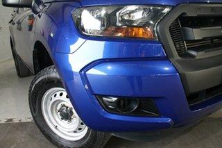 2016 Ford Ranger PX MkII XL 2.2 Hi-Rider (4x2) Blue 6 Speed Automatic Crew Cab Pickup.