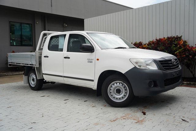 Used Toyota Hilux TGN16R MY12 Workmate Double Cab 4x2 Cairns, 2012 Toyota Hilux TGN16R MY12 Workmate Double Cab 4x2 White 4 Speed Automatic Utility