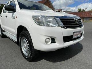 2013 Toyota Hilux KUN26R SR White 5 Speed Automatic Dual Cab
