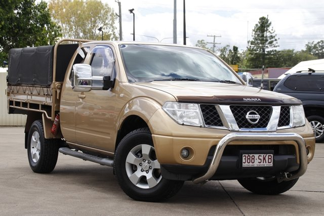 Used Nissan Navara D40 ST-X King Cab Bundamba, 2008 Nissan Navara D40 ST-X King Cab Gold 5 Speed Automatic Cab Chassis