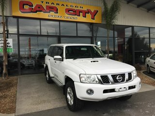 2016 Nissan Patrol GU Series 10 ST (4x4) White 4 Speed Automatic Wagon.