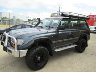 1992 Toyota Landcruiser HDJ80R GXL Blue 5 Speed Manual Wagon.