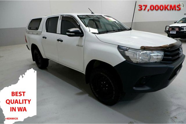 Used Toyota Hilux GUN125R Workmate Double Cab Kenwick, 2017 Toyota Hilux GUN125R Workmate Double Cab 6 Speed Sports Automatic Utility