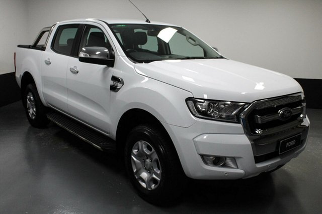 Used Ford Ranger PX MkII XLT Double Cab Hamilton, 2017 Ford Ranger PX MkII XLT Double Cab White 6 Speed Sports Automatic Utility