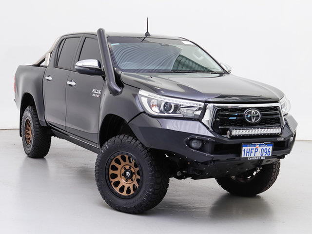 Used Toyota Hilux GUN126R MY19 Upgrade SR5 (4x4), 2020 Toyota Hilux GUN126R MY19 Upgrade SR5 (4x4) Black 6 Speed Automatic Double Cab Pick Up