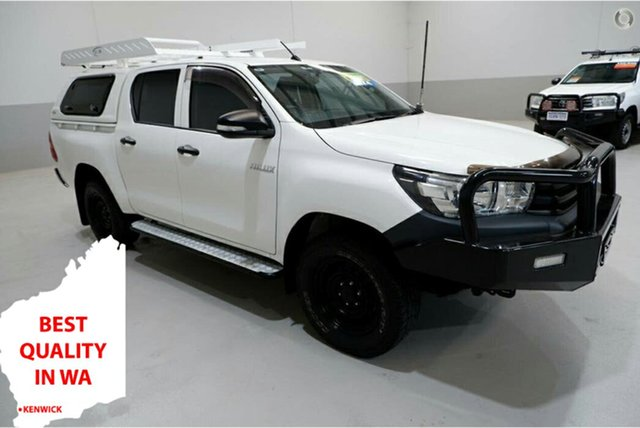 Used Toyota Hilux GUN125R Workmate Double Cab Kenwick, 2016 Toyota Hilux GUN125R Workmate Double Cab 6 Speed Sports Automatic Utility