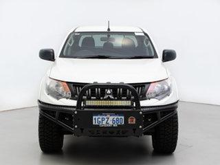 2018 Mitsubishi Triton MQ MY18 GLX (4x4) White 6 Speed Manual Dual Cab Chassis.