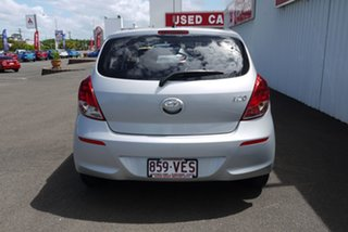 2014 Hyundai i20 PB MY14 Active Silver 6 Speed Manual Hatchback