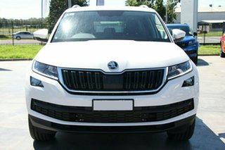 2021 Skoda Kodiaq NS MY21 132TSI DSG Moon White 7 Speed Sports Automatic Dual Clutch Wagon