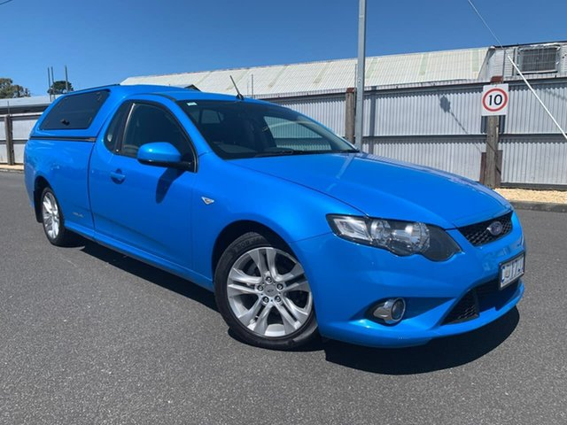 Used Ford Falcon FG XR6 Ute Super Cab Moonah, 2011 Ford Falcon FG XR6 Ute Super Cab Blue 6 Speed Sports Automatic Utility