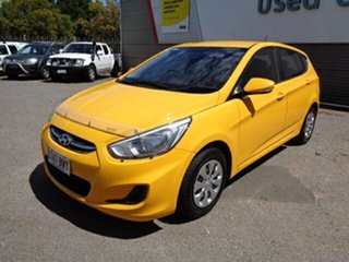 2016 Hyundai Accent RB3 MY16 Active Yellow 6 Speed Manual Hatchback