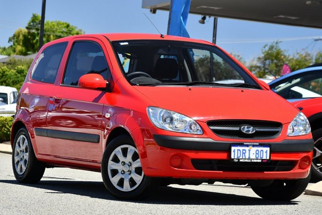 Used Hyundai Getz TB MY09 S Melville, 2011 Hyundai Getz TB MY09 S Red/Black 4 Speed Automatic Hatchback