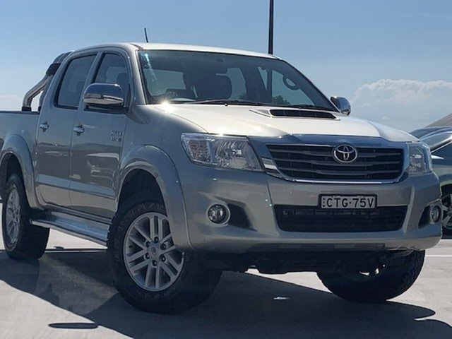 Used Toyota Hilux KUN26R MY14 SR5 Double Cab Liverpool, 2014 Toyota Hilux KUN26R MY14 SR5 Double Cab Silver 5 Speed Manual Utility