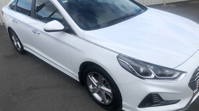 Used Hyundai Sonata LF4 MY18 Active Moorooka, 2017 Hyundai Sonata LF4 MY18 Active Hyper White 6 Speed Sports Automatic Sedan