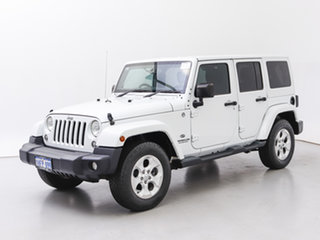 2015 Jeep Wrangler Unlimited JK MY15 Overland (4x4) White 5 Speed Automatic Hardtop.