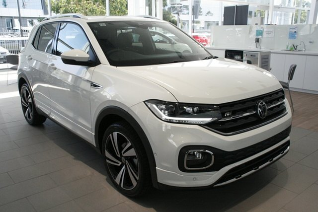 New Volkswagen T-Cross C1 MY21 85TSI DSG FWD Style Port Melbourne, 2020 Volkswagen T-Cross C1 MY21 85TSI DSG FWD Style White 7 Speed Sports Automatic Dual Clutch Wagon