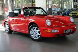 1990 Porsche 911 964 Carrera 2 Cabriolet Red 4 Speed Sports Automatic Convertible.