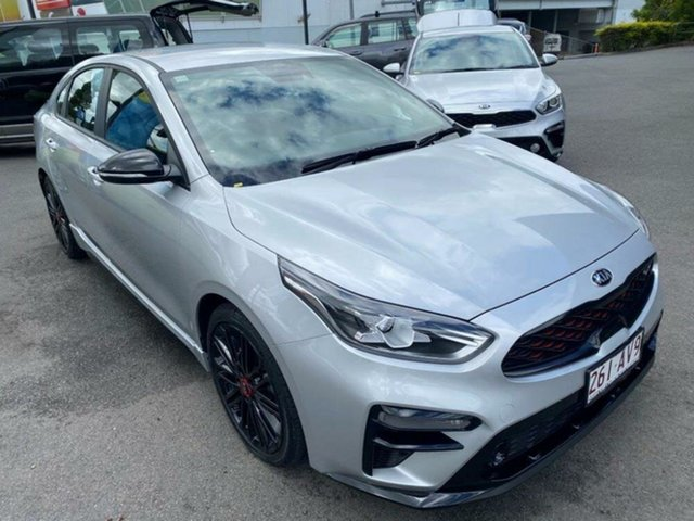 Used Kia Cerato BD MY19 GT DCT Springwood, 2019 Kia Cerato BD MY19 GT DCT Silky Silver 7 Speed Sports Automatic Dual Clutch Sedan