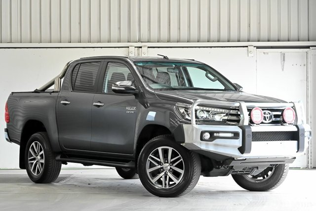 Used Toyota Hilux GUN136R SR5 Double Cab 4x2 Hi-Rider Laverton North, 2017 Toyota Hilux GUN136R SR5 Double Cab 4x2 Hi-Rider Grey 6 Speed Sports Automatic Utility