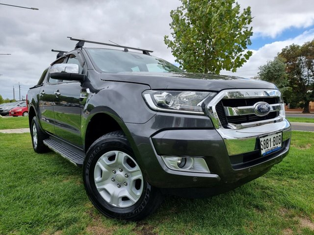 Used Ford Ranger PX MkII 2018.00MY XLT Double Cab Hindmarsh, 2017 Ford Ranger PX MkII 2018.00MY XLT Double Cab Grey 6 Speed Sports Automatic Utility