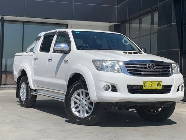 Used Toyota Hilux GUN126R SR5 Double Cab Liverpool, 2015 Toyota Hilux GUN126R SR5 Double Cab White 6 Speed Sports Automatic Utility