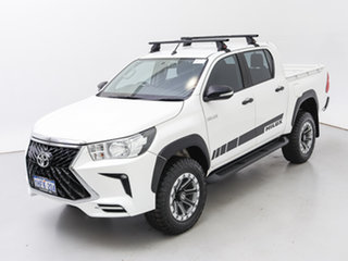 2017 Toyota Hilux GUN125R MY17 Workmate (4x4) White 6 Speed Automatic Dual Cab Chassis