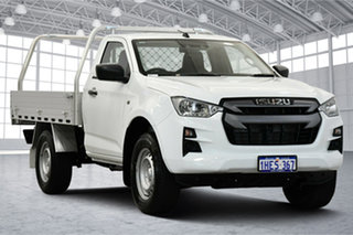 2020 Isuzu D-MAX RG MY21 SX 4x2 High Ride White & Silver 6 Speed Sports Automatic Cab Chassis.