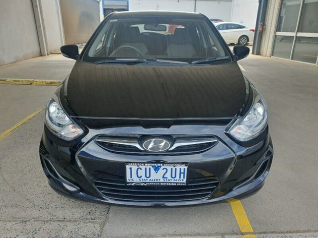 Used Hyundai Accent RB2 Active Melton, 2014 Hyundai Accent RB2 Active Black 4 Speed Sports Automatic Hatchback