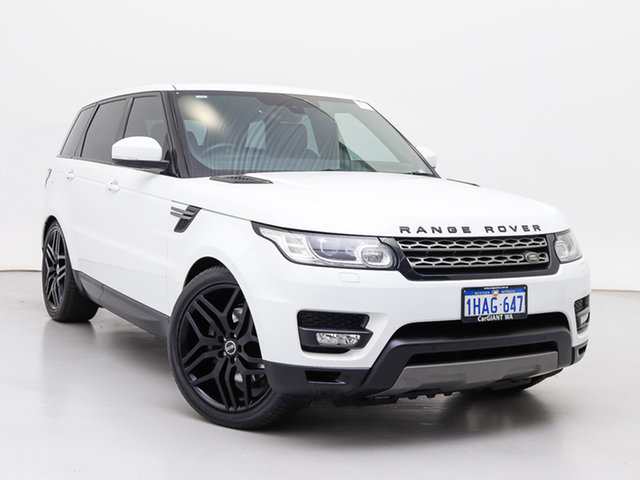 Used Land Rover Range Rover LW Sport 3.0 TDV6 SE, 2013 Land Rover Range Rover LW Sport 3.0 TDV6 SE Fuji White 8 Speed Automatic Wagon