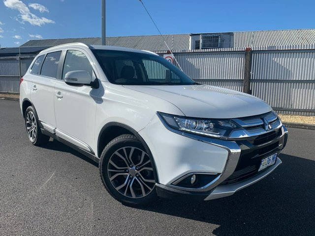Used Mitsubishi Outlander ZK MY16 LS 4WD Moonah, 2016 Mitsubishi Outlander ZK MY16 LS 4WD White 6 Speed Constant Variable Wagon