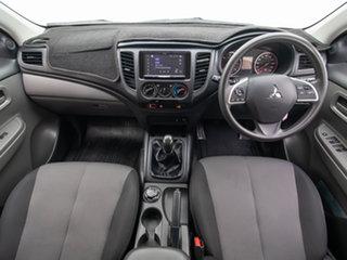 2018 Mitsubishi Triton MQ MY18 GLX (4x4) White 6 Speed Manual Dual Cab Chassis