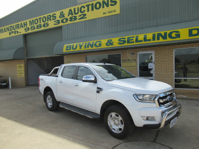 Used Ford Ranger PK XLT Mandurah, 2017 Ford Ranger PK XLT White 6 Speed Manual Double Cab