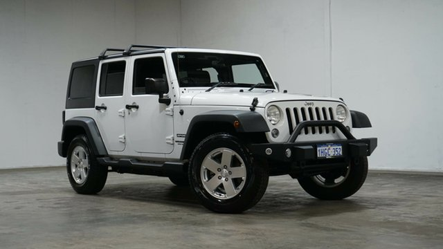 Used Jeep Wrangler JK MY17 Unlimited Sport Welshpool, 2017 Jeep Wrangler JK MY17 Unlimited Sport White 5 Speed Automatic Softtop