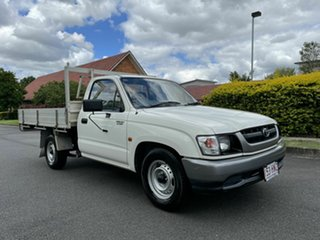 2002 Toyota Hilux RZN149R White 5 Speed Manual Cab Chassis.