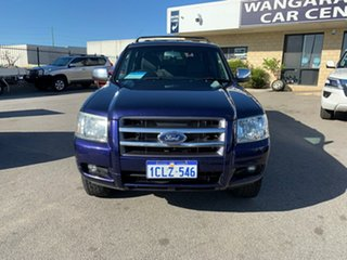 2007 Ford Ranger PJ XLT (4x4) Blue 5 Speed Automatic Dual Cab Pick-up.