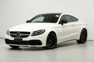 2017 Mercedes-AMG C63 S C Diamond White 7 Speed Automatic Coupe.