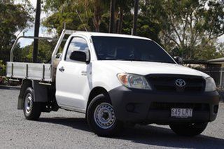 2007 Toyota Hilux TGN16R MY07 Workmate 4x2 White 5 Speed Manual Cab Chassis.