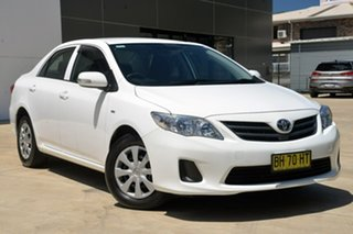 2010 Toyota Corolla ZRE152R MY10 Ascent White 4 Speed Automatic Sedan.