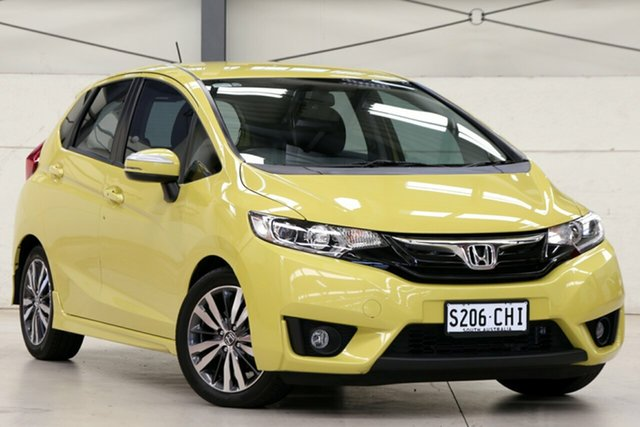 Used Honda Jazz GF MY15 VTi-L Glen Osmond, 2014 Honda Jazz GF MY15 VTi-L Attract Yellow 1 Speed Constant Variable Hatchback
