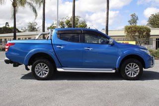 2017 Mitsubishi Triton MQ MY17 GLS Double Cab Blue 5 Speed Sports Automatic Utility